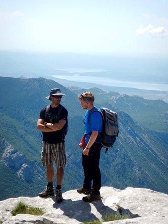 Molat Island, Croatia: Marko and Mike on the way up the Velebit