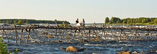 Haparanda, Szwecja: dinner on the river
