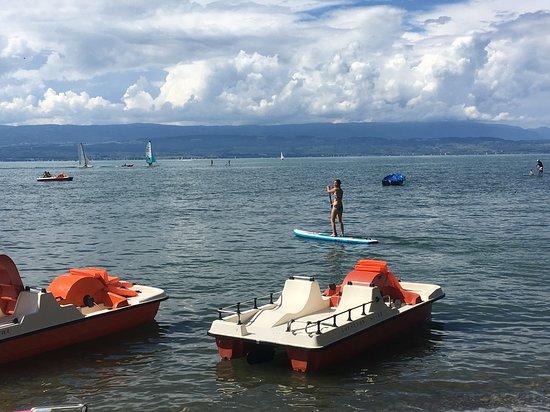 Sciez, Francia: Location de pédalos