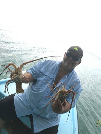St. George's Caye, Belize: Lobster hunting season opens June 15