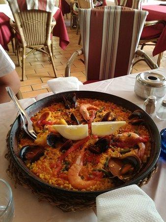 Restaurant Casa Pepe - Playa Arena Tenerife: Paella de pescado por dos!