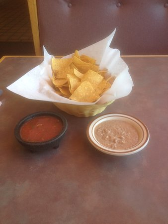 """Saint Anthony, ID: Fresh """"Chips"""" Salsa and Refried Beans"""