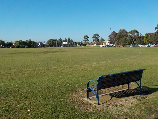 Moonee Ponds, Australien: Sports oval and spectator seat