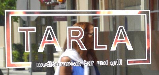 Tarla Mediterranean Bar & Grill: Restaurant sign