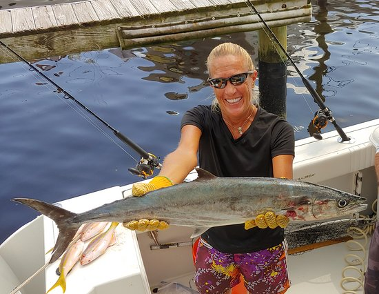 Jupiter, FL: Happy Customer with a big King Mackerel