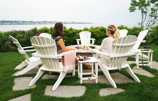 The Chanler at Cliff Walk: Indulge in a glass of wine or roast s'mores at The Chanler fire pit overlooking Easton's Beach.