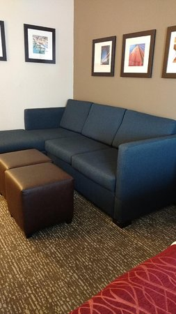 Comfort Inn & Suites San Francisco  Airport North: Pull out couch and ottoman/coffee table