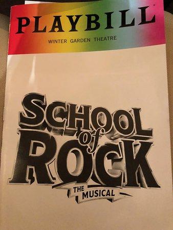 School Of Rock Playbill Picture Of Winter Garden Theatre New York