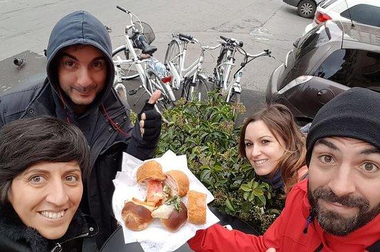 Passeio de bicicleta de comida de rua...
