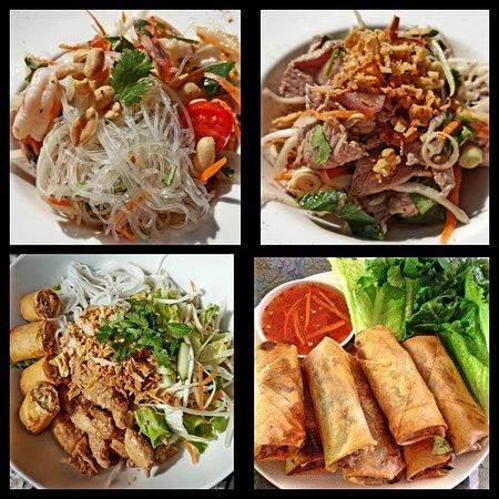 Mai Thai: salade de vermicelles, salade de boeuf, salade bobun, nems poulet