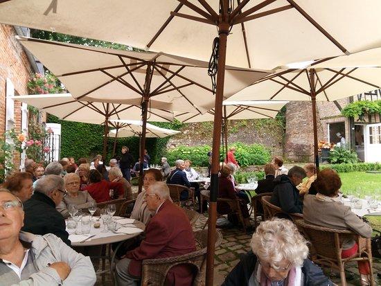 Gerberoy, France: La terrasse