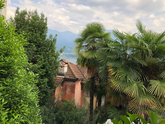 Muralto, Sveits: Вид из ресторана