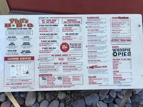 Rancho Bernardo, Kalifornien: Here's a menu for you ! :)