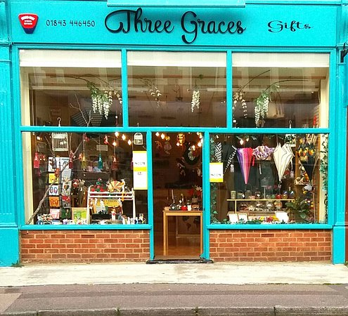 Broadstairs, UK: Three Graces gift shop front