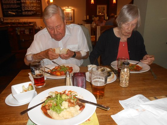 The Albert: Fish stew, slow cooked beef and dumplings and local ales