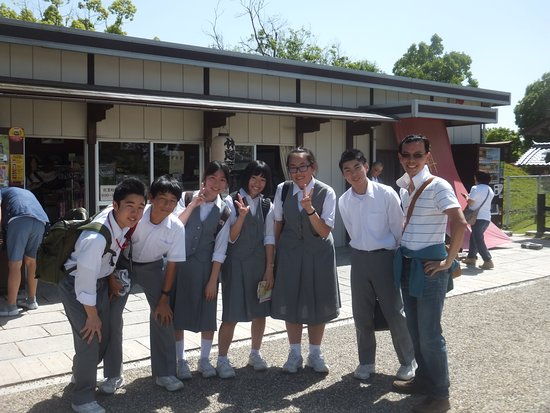 Kofuku-ji Temple: My faved photo of the trip, with some joyous japanese students!