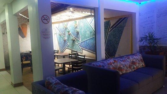 Barra, BA: Um confortavel espaço para tomar um excelente cafe da manha e tambem fazer novos amigos!