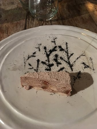 A medieval dessert: chicken liver pate with dried fruit and nuts