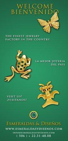 Esmeraldas and Disenos Jewelry: Joyeria inspirada en la naturaleza y el arte precolombino de Costa Rica