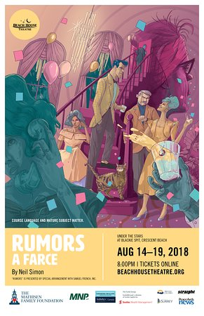 Beach House Theatre: 2018: Rumors Official Poster