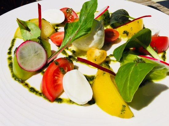 Gland, Sveits: Salade Caprese, arc en ceil de tomates e mozzarella de bouflonne