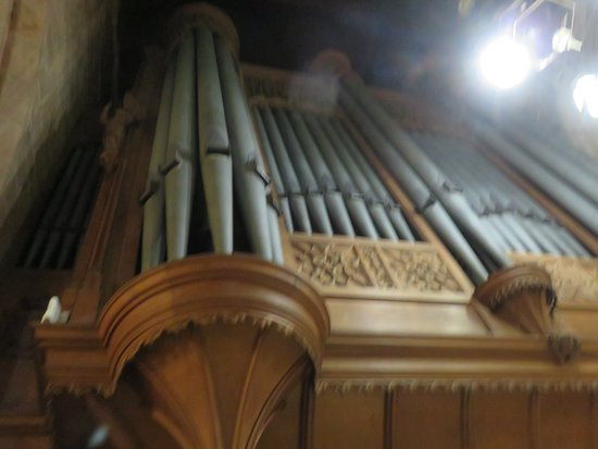 Church of the Holy Rude: organ pipes