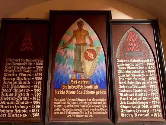 The sons of Biertan who died in WWI