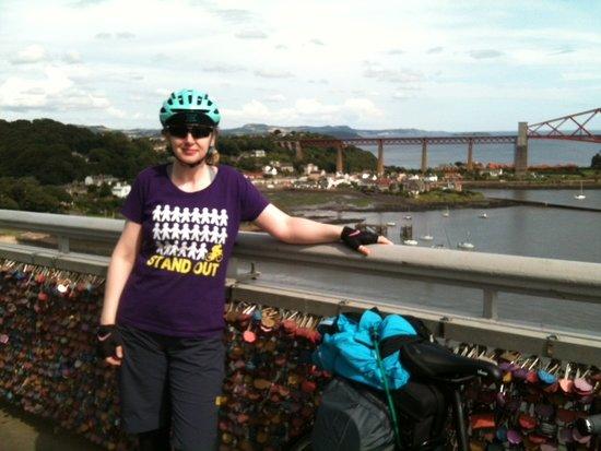 United Kingdom: Me on Forth Road Bridge