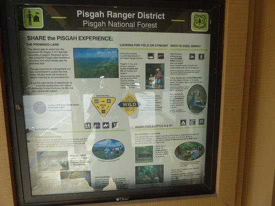 Pisgah Visitor Center: sign