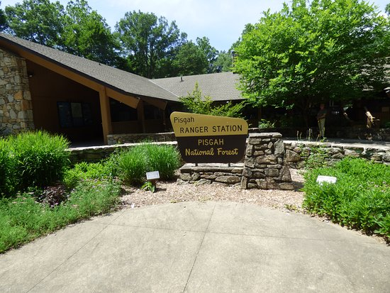 Pisgah Visitor Center: entrance