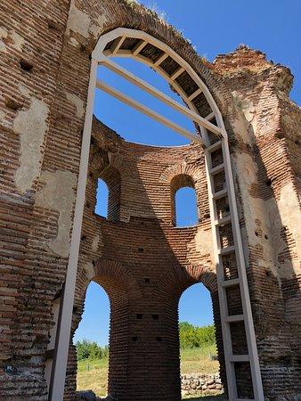 Perushtitsa, Bulgaria: detail of church