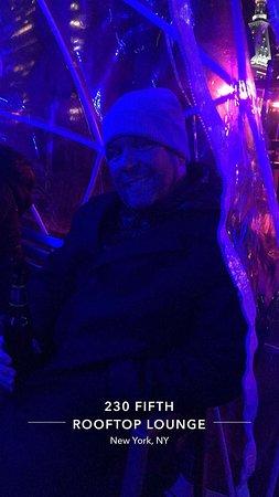 230 FIFTH ROOFTOP BAR NYC: Drinks inside igloo