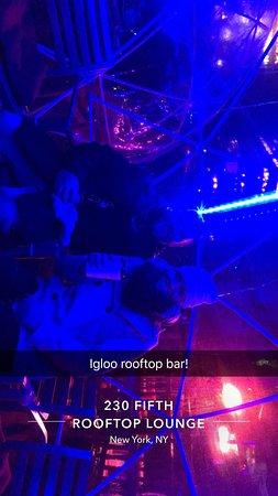 230 FIFTH ROOFTOP BAR NYC: Inside the igloo