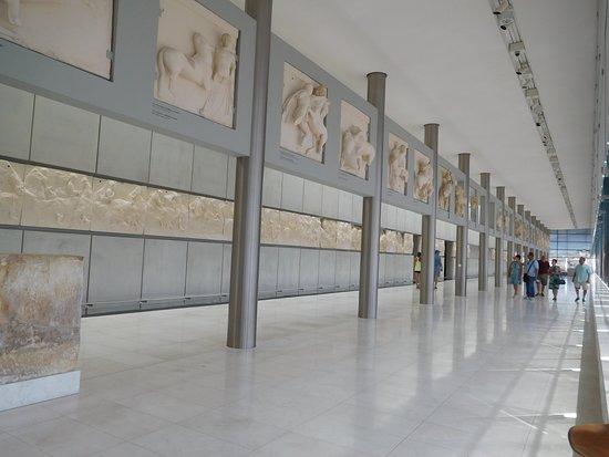 Μουσείο Ακρόπολης: Parthenon display on top floor