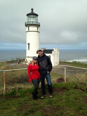 Ilwaco, WA: On of the two lighthouses in the park, lots of history.