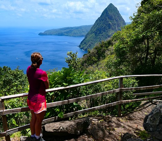 """Pitons: One of the few spots with a level, """"normal"""" trail and great view"""