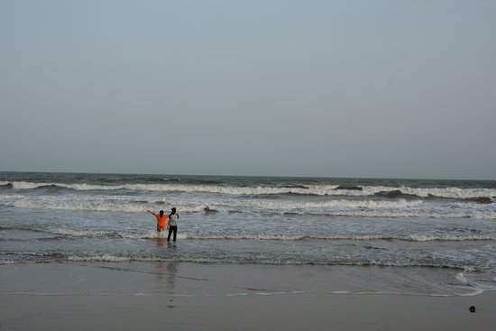 Bapatla, Indien: A good beach with shallow waters
