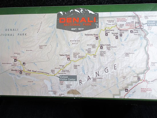 Map of Denali Park - Picture of Tundra Wilderness Tour, Denali ... Denali National Park Map on