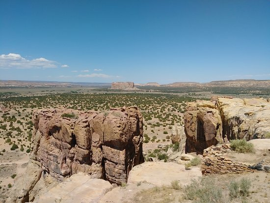 Pueblo of Acoma, NM: Enchanted Mesa in the Distance - You will learn how it got its name!