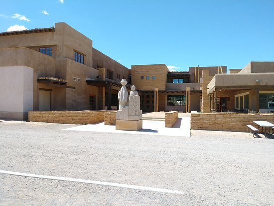 Pueblo of Acoma, NM: Back of the Cultural Center & Museum