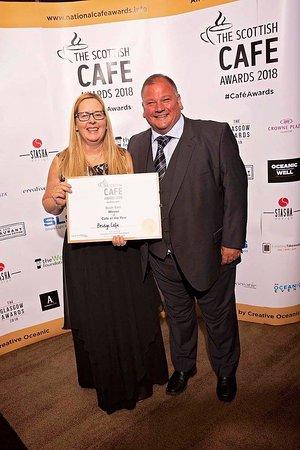Bathgate, UK: Winning the south east Scottish cafe awards 2018
