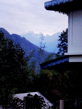 Mangan, India: View from back side of the hotel