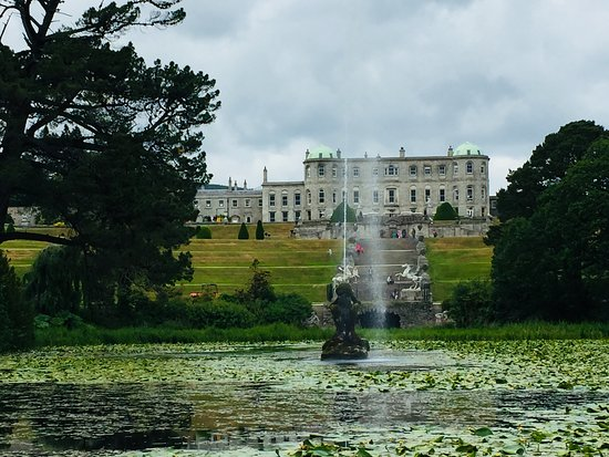 Powerscourt Gardens and House: Looking up the hill