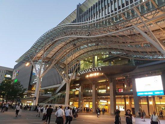 Hakata Station: エスカレーターの上から見上げた大屋根