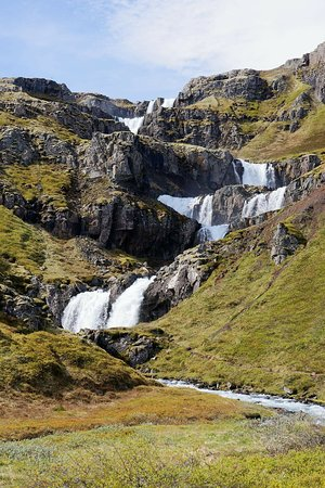 Egilsstadir, Iceland: Waterfall from below