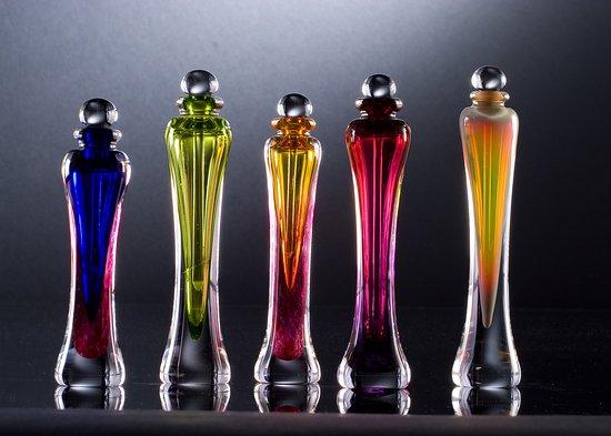 Thal Glass Studio: Hand blown perfume bottles