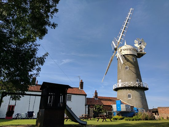 Bircham Windmill: This is the garden. It can get crowded, but if you camp you get to enjoy it at quieter times.