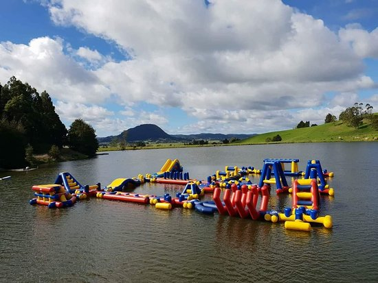 Whangarei, Nueva Zelanda: Adrenalin Adventure Park Activities  NZs largest Floating obstacke course  Paddle boards, kayaks
