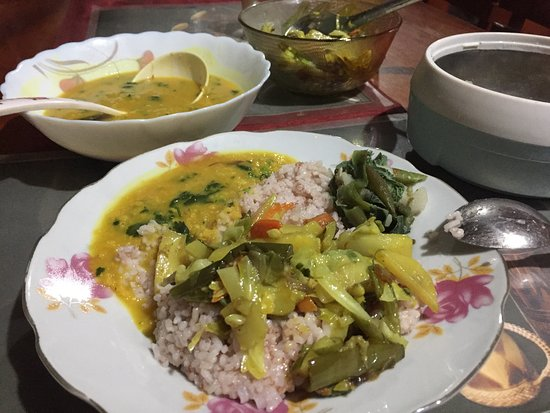 Khonoma Village: very good veg food if required