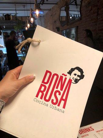 Dona Rosa: Design der Speisekarte